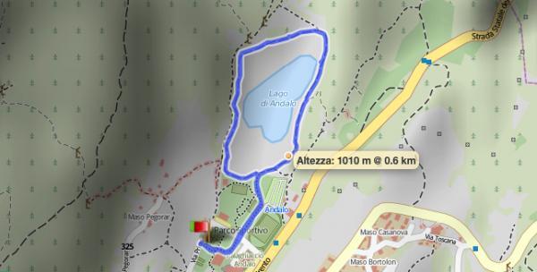 1. Giro del Lago di Andalo
