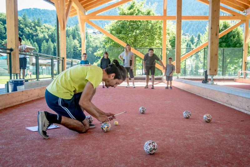 campo bocce Andalo giochi divertimento montagna family parco Life Family Activity Park Dolomiti Paganella Trentino