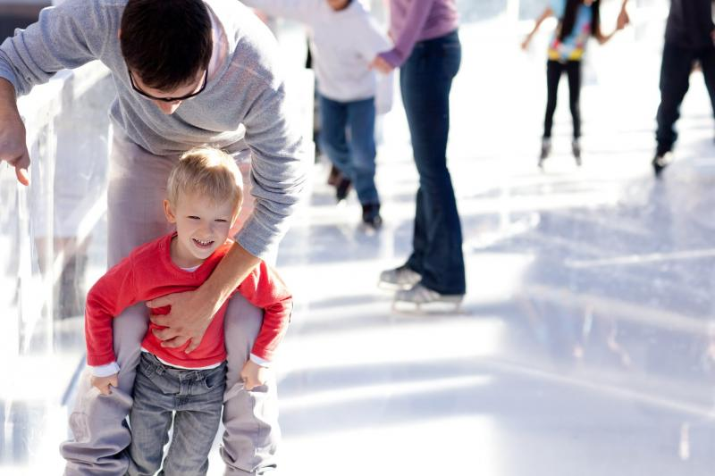 Ice-skating lessons for children 5-14 years old